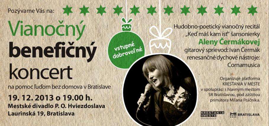 Vianočný benefičný koncert na pomoc ľuďom bez domova v Bratislave