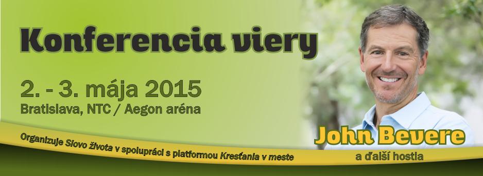 Konferencia viery, 2. - 3. mája 2015, Aegon aréna