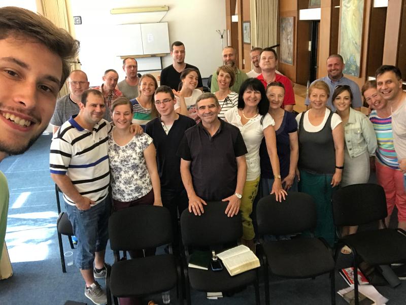 Ukončenie večernej biblickej školy v Bratislave