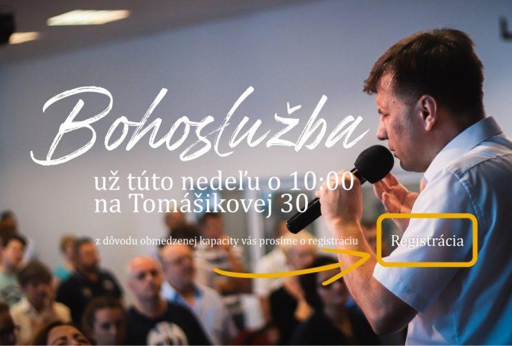 Bohoslužba na Tomášikovej 30 pre obmedzený počet ľudí