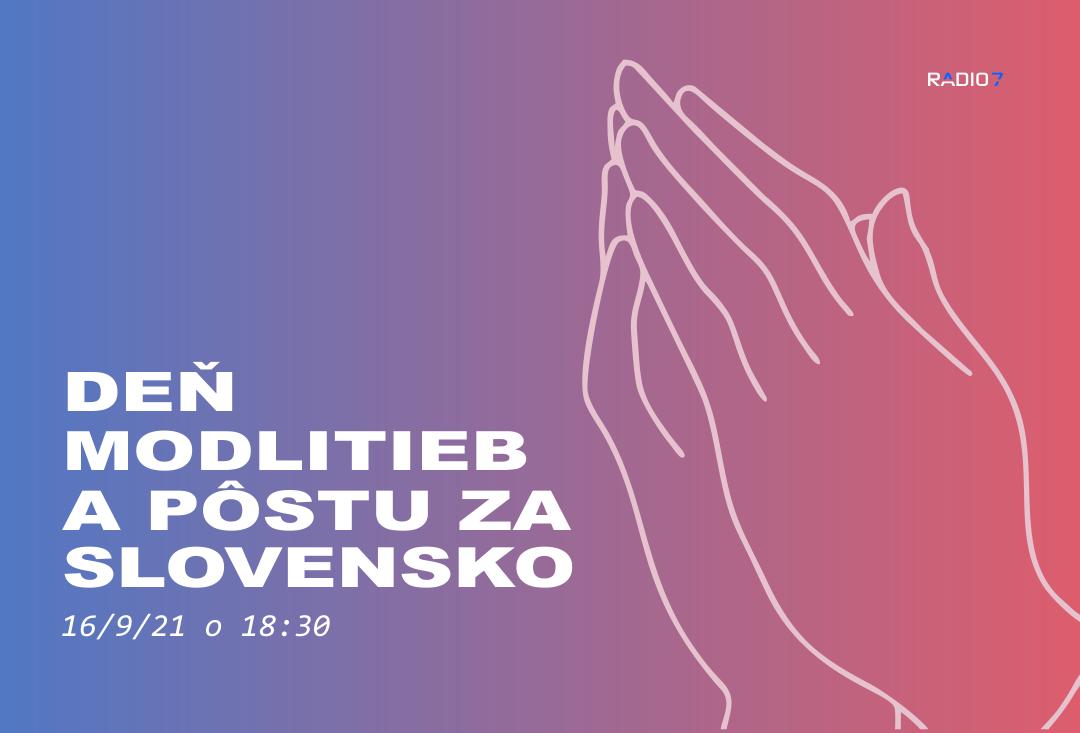 Deň modlitby a pôstu za Slovensko 16.9 o 18.30